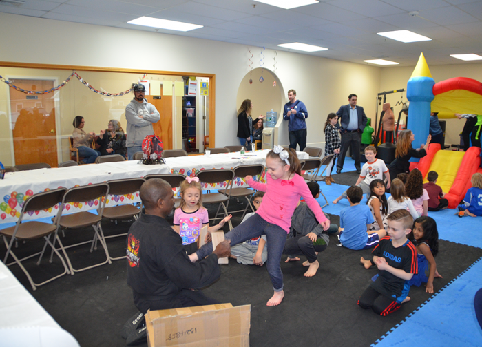 Kids at Karate Birthday having fun